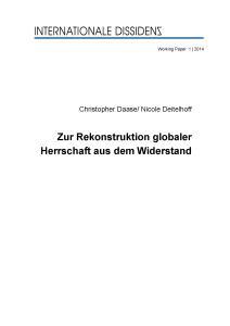 Cover WP 1 Daase Deitelhoff