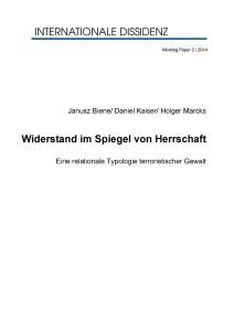 Cover Widerstand im Spiegel von Herrschaft Biene Kaiser Marcks Internationale Dissidenz